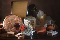 Cuisine/Gastronomie Generale: Plateau de Fromage Cantal -Fourme d'Ambert - Valencay- Camenbert- Saint Nectaire - beurre