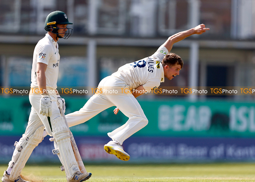 Matt Milnes bowls for Kent during Kent CCC vs Worcestershire CCC, LV Insurance County Championship Division 3 Cricket at The Spitfire Ground on 5th September 2021