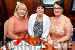 Mary Doyle, Margaret Ryan and Aileen Riordan enjoying the afternoon for Ladies Day in the Castle Bar on Thursday.
