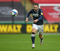 3rd October 2020; Liberty Stadium, Swansea, Glamorgan, Wales; English Football League Championship, Swansea City versus Millwall; Tom Bradshaw of Millwall chases after a long ball