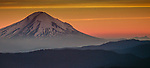 The conical summit of Mt. St. Helens before the 1980 blast, Washington, USA