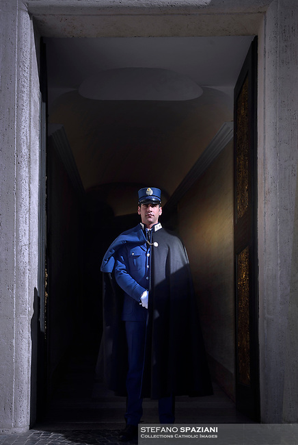 The Vatican's gendarme corps  of Vatican City State (Italian: Corpo della Gendarmeria dello Stato della Città del Vaticano) is the gendarmerie, or police and security force, of Vatican City and the extraterritorial properties of the Holy See.<br /> The 130-member corps is led by an Inspector General, currently Domenico Giani,The corps is responsible for security, public order, border control, traffic control, criminal investigation, and other general police duties in Vatican City.March 14, 2018