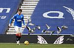 21.02.2021 Rangers v Dundee Utd: Jack Simpson scares some birds
