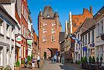 Deutschland, Nordrhein-Westfalen, Xanten: das Klever Tor | Germany, Northrhine-Westphalia, Xanten: Klever Gate
