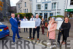 Cahersiveen Community & Business Alliance receive their 'Begin Together Award' and a cheque for €5K on Thursday pictured here front l-r; Hugh Gleason(BofI South Kerry Manager), Jack Fitzpatrick(Chairman CCBA), Lisa O'Shea, back l-r; Frank Curran, Conor O'Shea(BofI), Shane Enright(BofI), Ger Kennedy, Stephanie Mahey & Máire O'Reilly.