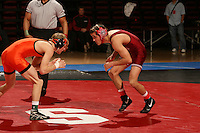 26 February 2006: Eric Minnick during the Pac-10 Wrestling Championships at Maples Pavilion in Stanford, CA.