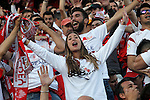 Sevilla CF's supporters during Spanish Kings Cup Final match. May 22,2016. (ALTERPHOTOS/Acero)