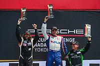 Platinum Masters Podium, #99 Kelly-Moss/AM Motorsports, Porsche 991 / 2019, GT3CP: Alan Metni (M), #2 Lauzon Autosport, Porsche 991 / 2017, GT3CP: Etienne Borgeat (M), #84 Mark Motors Racing, Porsche 991 / 2018, GT3CP: Perry Bortolotti (M)