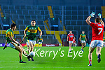 Tony Brosnan, Kerry in action against Mattie Taylor, Cork, during the Munster GAA Football Senior Championship Semi-Final match between Cork and Kerry at Páirc Uí Chaoimh in Cork.