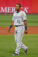 West Michigan Whitecaps infielder Francisco Contreras (31) during game five of the Midwest League Championship Series against the Cedar Rapids Kernels on September 21st, 2015 at Perfect Game Field at Veterans Memorial Stadium in Cedar Rapids, Iowa.  West Michigan defeated Cedar Rapids 3-2 to win the Midwest League Championship. (Brad Krause/Four Seam Images)