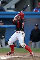 Batavia Muckdogs outfielder Chris Edmondson during game three of the NYPL Semifinals vs. the Tri-City Valleycats at Dwyer Stadium in Batavia, New York September 9, 2010.   Tri-City defeated Batavia 1-0.  Photo By Mike Janes/Four Seam Images