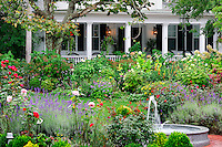 Lovely home and gardens, Edgartown, Martha's Vineyard, Massachusetts, USA