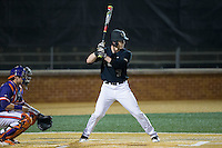 Kevin Conway (7) of the Wake Forest Demon Deacons at bat against the Clemson Tigers at David F. Couch Ballpark on March 12, 2016 in Winston-Salem, North Carolina.  The Tigers defeated the Demon Deacons 6-5.  (Brian Westerholt/Four Seam Images)