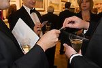 Cartoonist Dinner and award ceremony. A tie formal charity dinner.  The Mall Galleries London  2007  2000s.  Champagne reception, exchanging business cards.