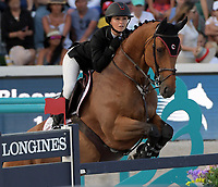 MIAMI BEACH, FL - APRIL 19: Georgina Bloomberg at the Longines Global Champions Tour stop in Miami Beach. Singer Bruce Springsteen's daughter Jessica Rae Springsteen and fellow riders Former Mayor of New York Michael Bloomberg's daughter Georgina Bloomberg as well as Bill Gates daughter Jennifer Gates were all in attendance on April 19, 2019 in Miami Beach, Florida<br /> <br /> <br /> People:  Georgina Bloomberg