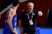 04.07.2021 Belgrade Serbia-Italy FIBA Olympic qualifying tournament final men s basketball Meo Sacchetti Italy coach :Str/<br /> Photo Imago/Insidefoto ITA ONLY