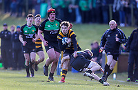 Saturday 17th February 2018 | RBAI vs Sullivan<br /> <br /> Jude Postlethwaite during the Ulster Schools' Cup Quarterfinal between RBAI and Sullivan at Cranmore Park, Belfast, Northern Ireland. Photo by John Dickson / DICKSONDIGITAL