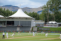 NZ's Trent Boult bowls during day four of the second International Test Cricket match between the New Zealand Black Caps and Pakistan at Hagley Oval in Christchurch, New Zealand on Wednesday, 6 January 2021. Photo: Dave Lintott / lintottphoto.co.nz