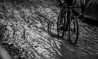 plowing through the sticky mud<br /> <br /> Elite Men's Race<br /> GP Sven Nys / Belgium 2018