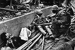 U.S. Marines with a Vietnamese prisoner, Têt offensive, Battle of Hué, Vietnam, February 1968