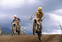 Motocross Riders racing in Motorcross Race, Fraser Valley, BC, British Columbia, Canada