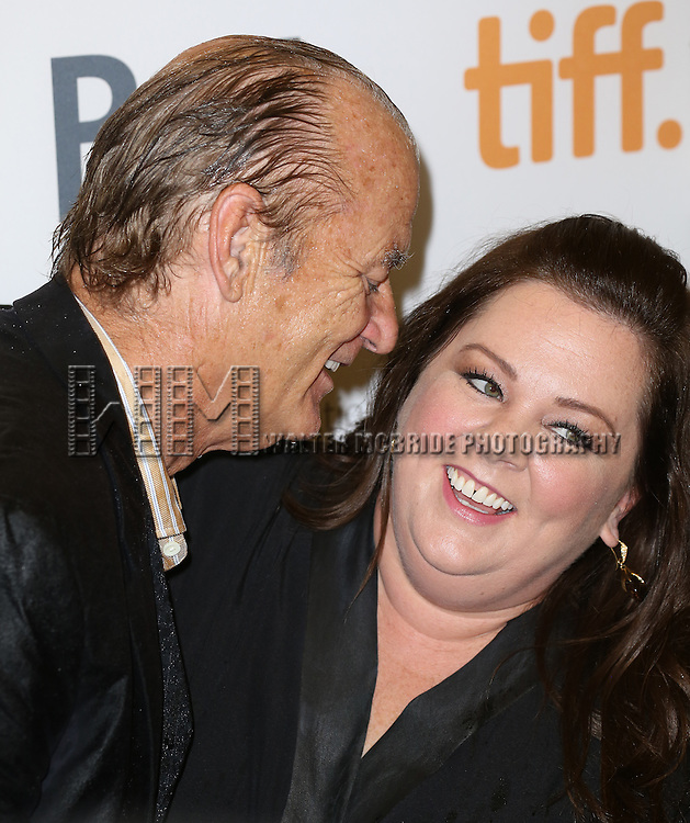 Bill Murray and Melissa McCarthy attends the 'St. Vincent' premiere during the 2014 Toronto International Film Festival at Princess of Wales Theatre on September 5, 2014 in Toronto, Canada.