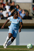 Anita Asante (5) of Sky Blue FC. The Los Angeles Sol defeated Sky Blue FC 2-0 during a Women's Professional Soccer match at TD Bank Ballpark in Bridgewater, NJ, on April 5, 2009. Photo by Howard C. Smith/isiphotos.com