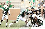 DENTON, TX - AUGUST 31: North Texas Mean Green defensive back Freddie Warner (21) of the North Texas Mean Green Football vs Idaho Vandals at Apogee Stadium in Denton on August 31, 2013 in Denton, Texas. Photo by Rick Yeatts