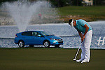 PALM BEACH GARDENS, FL. - Jeff Overton putts out on 18 to finish up at 6 under par during Round Two play at the 2009 Honda Classic - PGA National Resort and Spa in Palm Beach Gardens, FL. on March 6, 2009.