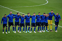 Italian players sing the anthem during the Uefa Euro 2020 Final football match between Italy and England at Wembley stadium in London (England), July 11th, 2021. Photo Andrea Staccioli / Insidefoto