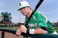 Dayton Dragons outfielder Jesse Winker #23 poses for a photo before a game against the Bowling Green Hot Rods on April 21, 2013 at Fifth Third Field in Dayton, Ohio.  Bowling Green defeated Dayton 7-5.  (Mike Janes/Four Seam Images)