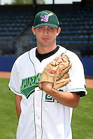 Jamestown Jammers Jordan Davis poses for a photo before a NY-Penn League game at Russell Diethrick Park on July 1, 2006 in Jamestown, New York.  (Mike Janes/Four Seam Images)