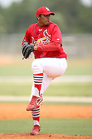 April 14, 2009:  Pitcher Jorge Rondon of the St. Louis Cardinals extended spring training team during a game at Roger Dean Stadium Training Complex in Jupiter, FL.  Photo by:  Mike Janes/Four Seam Images