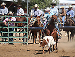 Nick Nalder competes in the calf roping event at the Minden Ranch Rodeo on Sunday, July 24, 2011, in Gardnerville, Nev. .Photo by Cathleen Allison