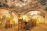 Dining hall. Castello di Amorosa. Napa Valley, California. Property relased