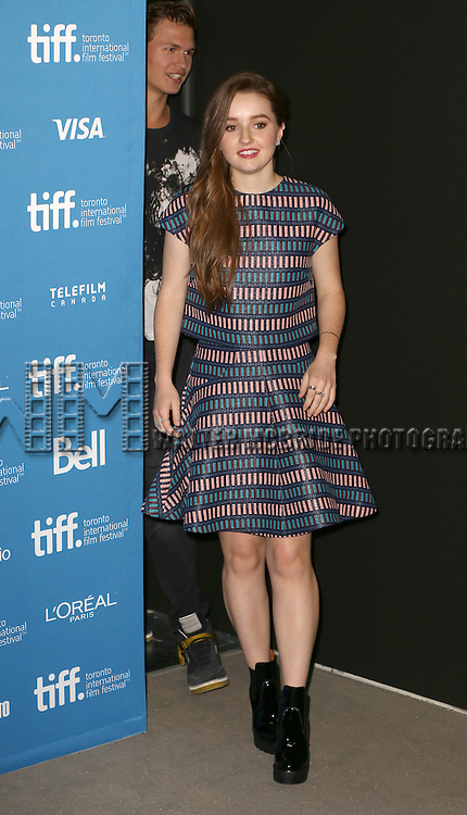 Kaitlyn Dever and Ansel Elgort during the 'Men, Woman & Children' photocall during the 2014 Toronto International Film Festival at the Tiff Bell Lightbox on September 6, 2014 in Toronto, Canada.