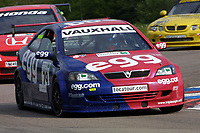 Round 3 of the 2002 British Touring Car Championship. #29 Paul O'Neill (GBR). Egg Sport. Vauxhall Astra Coupé.