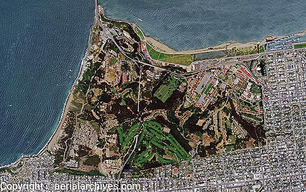 aerial photo map Presidio of San Francisco