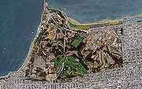 aerial photo map Presidio of San Francisco