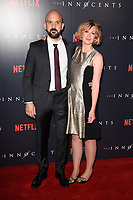 """Simon Duric and Hania Elkington<br /> arriving for the premiere of """"The Innocents"""" at the Curzon Mayfair, London<br /> <br /> ©Ash Knotek  D3421  20/08/2018"""