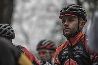 Rob Peeters (BEL/Pauwels Sauzen-vastgoedservice) at the start. Because Rob wil ending his career this season, he was racing for the very last time in his hometown race.<br /> <br /> men's elite race<br /> Lampiris Zilvermeercross Mol / Belgium 2017