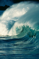 wave breaking, Waimea Bay, North Shore, Oahu, Hawaii