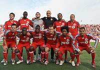 17 October 2009: Toronto FC starting eleven during an MLS game between Real Salt Lake and Toronto FC at BMO Field in Toronto..Toronto FC won 1-0. .