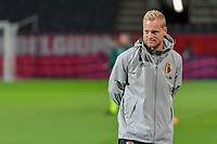 assistent coach Olivier Deschacht of Belgium pictured before a soccer game between the national teams Under21 Youth teams of Belgium and Denmark on the fourth matday in group I for the qualification for the Under 21 EURO 2023 , on tuesday 12 th of october 2021  in Leuven , Belgium . PHOTO SPORTPIX   STIJN AUDOOREN