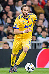 Gonzalo Higuain of Juventus in action during the UEFA Champions League 2017-18 quarter-finals (2nd leg) match between Real Madrid and Juventus at Estadio Santiago Bernabeu on 11 April 2018 in Madrid, Spain. Photo by Diego Souto / Power Sport Images