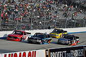 #99: Ben Rhodes, ThorSport Racing, Ford F-150 Carolina Nut and #18: Harrison Burton, Kyle Busch Motorsports, Toyota Tundra Safelite AutoGlass