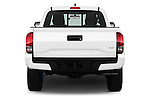 Straight rear view of 2017 Toyota Tacoma TRD Sport 4 Door Pick Up Rear View  stock images