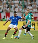 22.08.2019 Legia Warsaw v Rangers: Joe Aribo and Valerian Gvilla