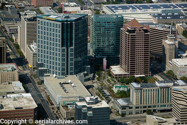 aerial photograph downtown office towers, Salt Lake City, Utah