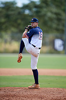 Caleb Reis during the WWBA World Championship at the Roger Dean Complex on October 18, 2018 in Jupiter, Florida.  Caleb Reis is a catcher / right handed pitcher from Marietta, Geogia who attends North Cobb Christian School and is committed to Georgia Tech.  (Mike Janes/Four Seam Images)
